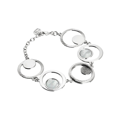 Related product : Bracciale modulare con orbite di zirconi e madreperla