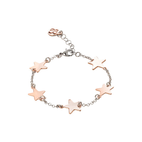 Related product : Bracciale con stelle rosa lucide passanti