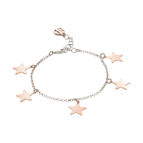 Related product : Bracciale con stelle rosa pendenti lucide
