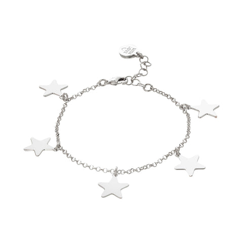 Related product : Bracciale con stelle pendenti lucide