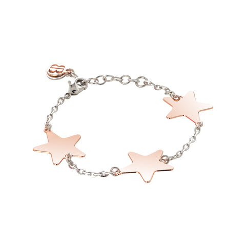 Related product : Bracciale rosato effetto diamantato con stelle