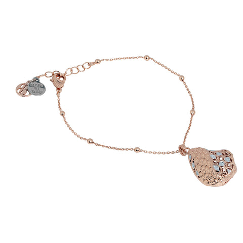 Related product : Bracciale placcato oro rosa in elettrofusione con glitter silver