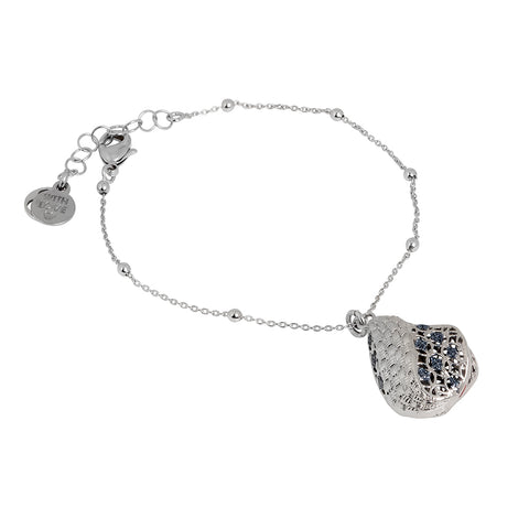 Related product : Bracciale rodiato in elettrofusione con glitter black