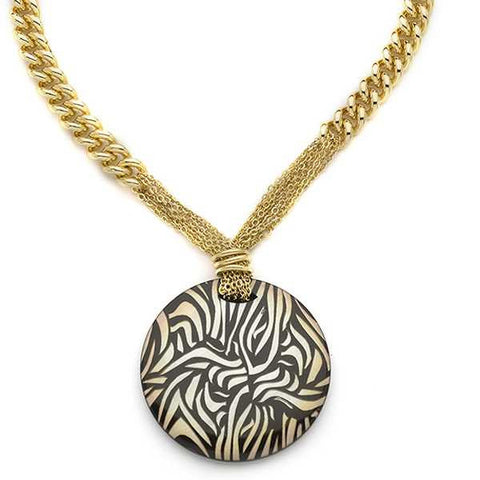 Related product : Collana placcata oro giallo con centrale animalier