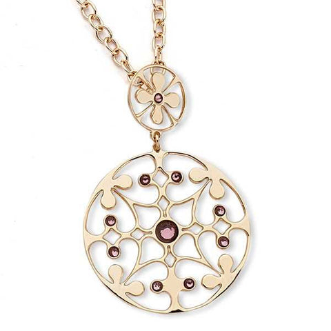 Related product : Collana in bronzo con cristalli Swarovski ametista chiara