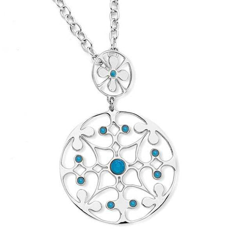 Related product : Collana in bronzo e cristalli Swarovski blu caraibico opale