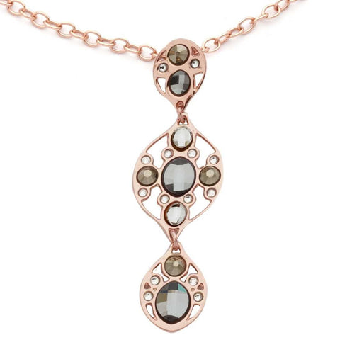 Related product : Collana in bronzo con mosaico di cristalli Swarovski grigio scuro e oro metallico