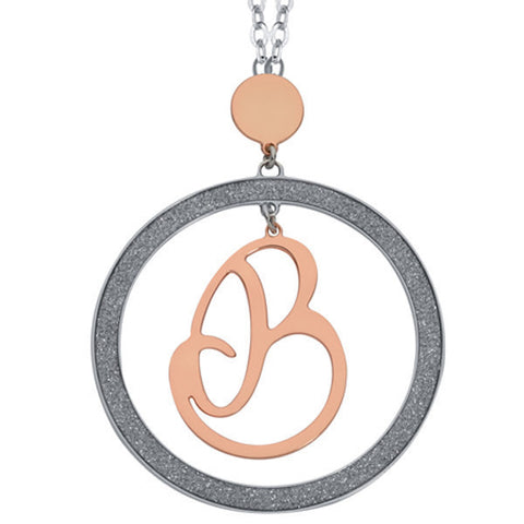 Related product : Collana con lettera B pendente grande