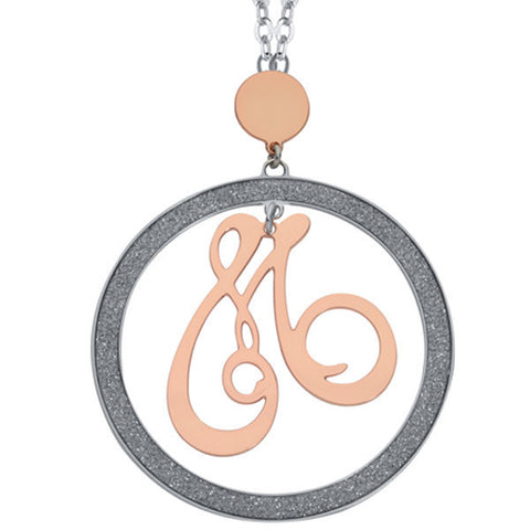 Related product : Collana con lettera M pendente grande