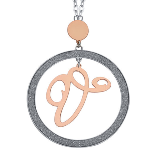 Related product : Collana con lettera V pendente grande