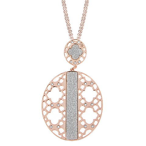 Related product : Collana placcata oro rosa con decoro zellige e Swarovski