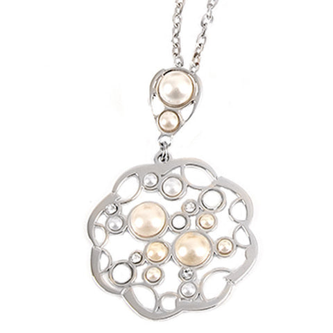 Related product : Collana con pendente e perle Swarovski cabochon