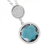 Collana con cristallo pendente blu London