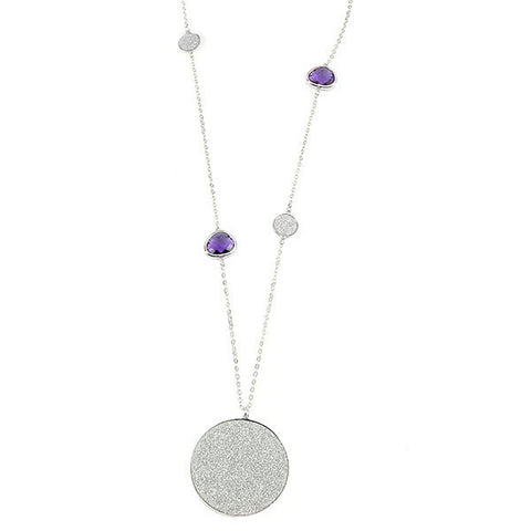 Related product : Collana con cristalli viola e pendente glitterato