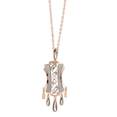 Related product : Collana rosata pendente svasato e Swarovski