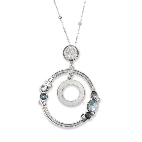 Related product : Collana con pendente concentrico e Swarovski