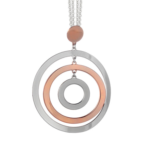Related product : Collana con maxi pendente multicentrico bicolor