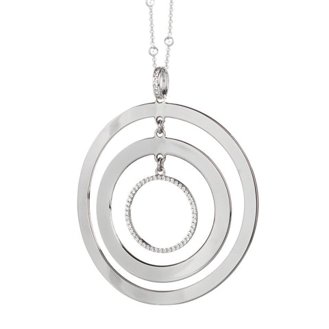 Related product : Collana con maxi pendente multicentrico e zirconi