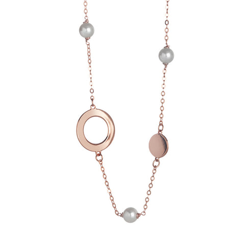 Related product : Collana rosata lunga monofilo con perle Swarovski