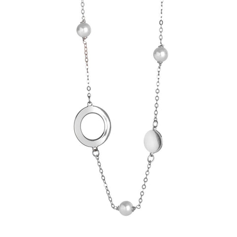 Related product : Collana lunga monofilo con perle Swarovski