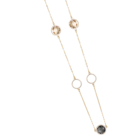Related product : Collana con cristalli smoky quartz, champagne e zirconi