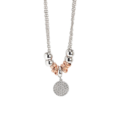 Related product : Collana con pendente a forma di sfera zirconata