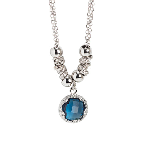 Related product : Collana con cristallo sfaccettato blu London