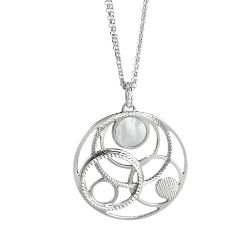 Related product : Collana con orbite in madreperla e zirconi