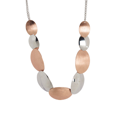 Related product : Collana con ovali bicolor