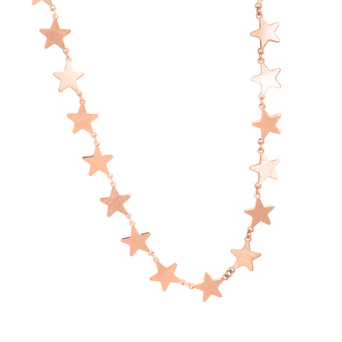 Related product : Collana rosata con stelle