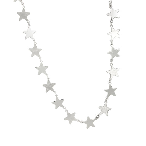Related product : Collana rodiata con stelle