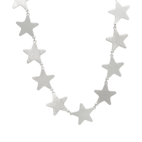 Related product : Collana rodiata con stelle grandi
