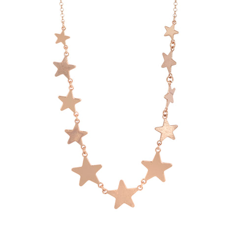 Related product : Collana corta rosata con stelle degradè