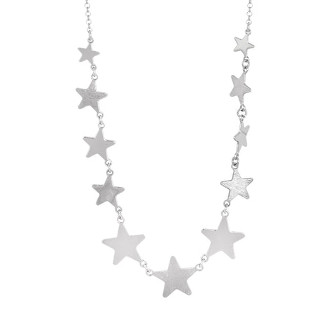 Related product : Collana corta rodiata con stelle degradè