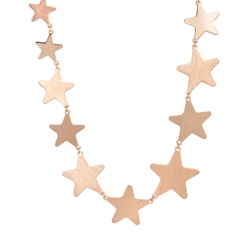 Related product : Collana rosata con stelle degradè