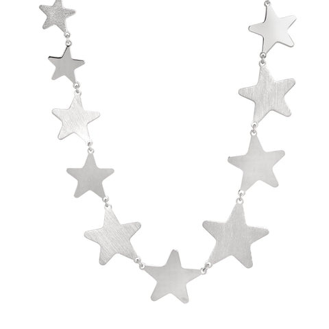 Related product : Collana rodiata con stelle degradè