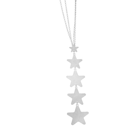 Related product : Collana scapolare rodiata con ciuffetto di stelle pendenti