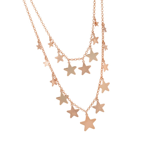 Related product : Collana doppiofilo degradè con stelle