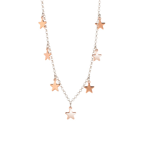 Related product : Collana rosata con stelline pendenti lisce