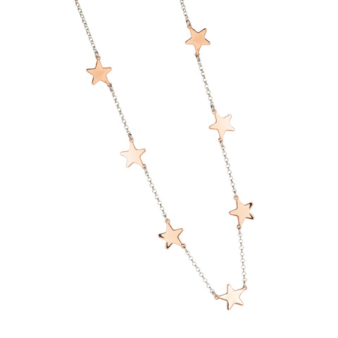 Related product : Collana con stelle passanti rosate e lucide