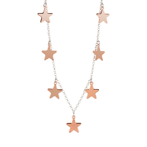 Related product : Collana rosata con stelle pendenti lucide
