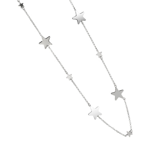 Related product : Collana lunga con stelle lucide alternate a stelle passanti