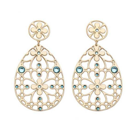 Related product : Orecchini in bronzo e cristalli Swarovski verde acqua