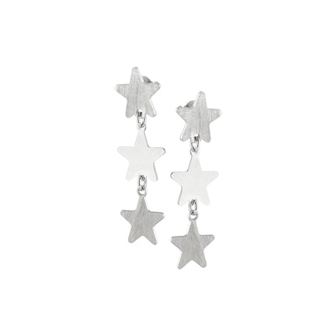 Related product : Orecchini rodiati con stelle pendenti