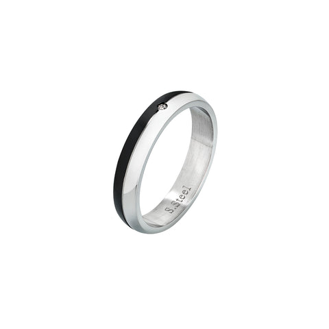 Related product : Anello in acciaio con Pvd nero e zircone incastonato