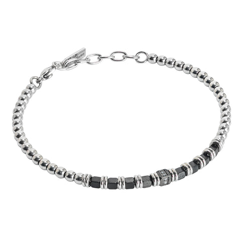 Related product : Bracciale beads con ematite nera e zirconi