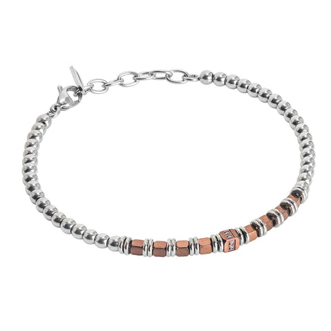Related product : Bracciale beads con ematite rosata e zirconi