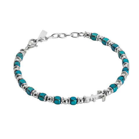 Related product : Bracciale beads con ematite blu ed ancora