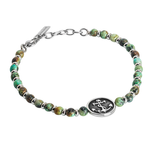 Related product : Bracciale con diaspro labradonite e ancora