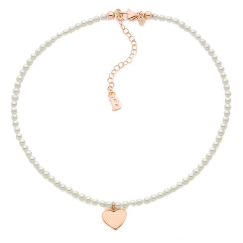 Related product : Collana con perle Swarovski e cuore centrale